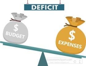 Budget deficit clipart